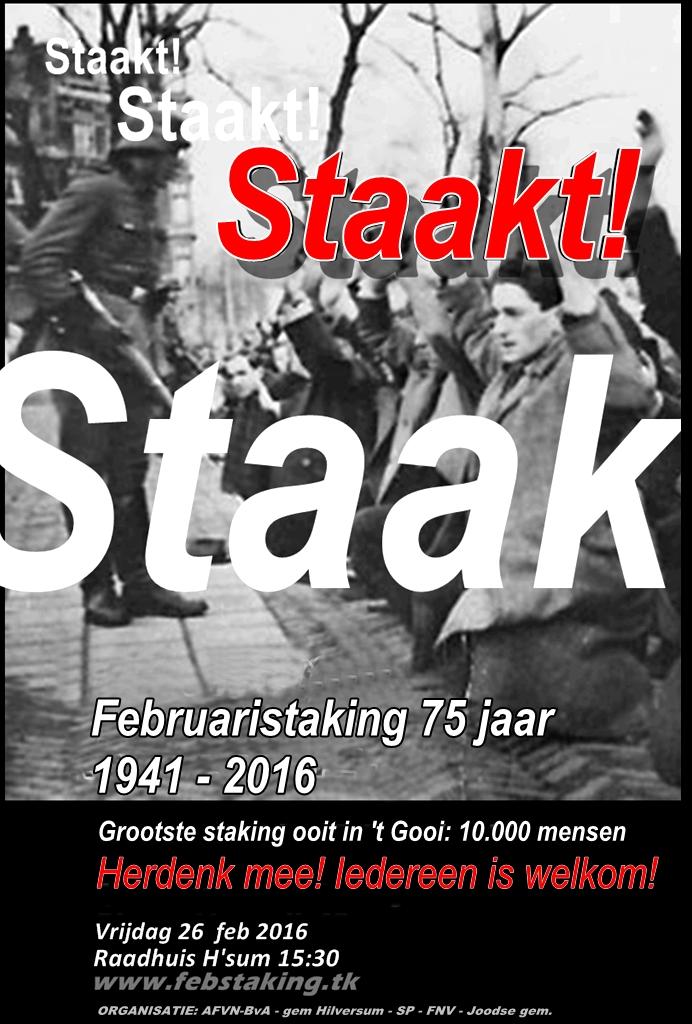 Herdenking Februaristaking Hilversum 26 februari 2019